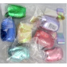Gift Ribbon & Cops 10 Asstd in Bag