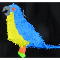 Pinata 3D design Bird Macaw Blue Yellow
