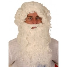 Hair - Wig & beard Set Santa Curly White