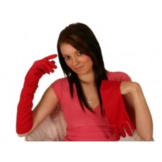 Gloves Ladies Red Long