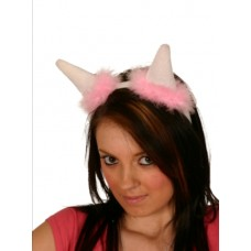 Tiara Horn Pink with Fur Trim