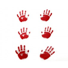 Blood Red Hands (Gelatin) 6 pieces