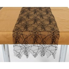 Decoration Table Runner Spiderweb Black