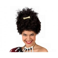 Hair Wig Afro with Bone Black