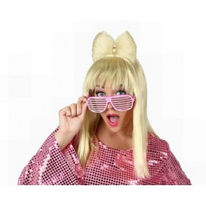 Hair Wig Pop Star Blond with Bow Tie