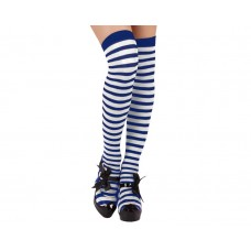 Hold-ups White & Blue Dark Stripes