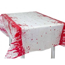 Table Cover Bloody on White 136x265cm