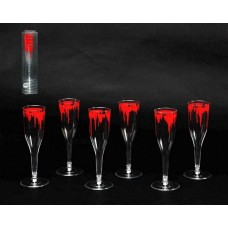Halloween Glasses Bloody 6s 32x6.5cm PV