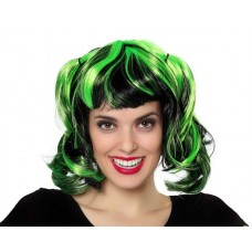 Hair Wig Green Pigtails