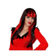 Hair Wig Demon Female Red & Black