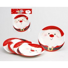 Christmas Party Plates 18cm PKt 6