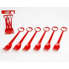 Christmas Party Forks 17 cm Pkt 6
