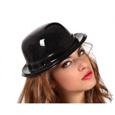 Hat Derby Black Plastic PVC