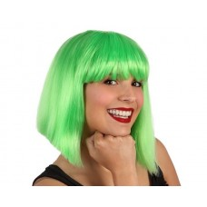 Hair Wig Green Lady middle Length