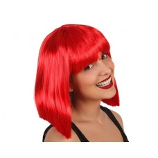 Hair Wig Red Lady middle Length