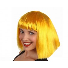 Hair Wig Yellow Lady middle Length