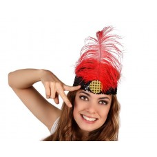 Head Dress Charleston Red