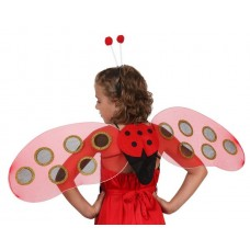 Wings Ladybird with Antennas 37x53cms