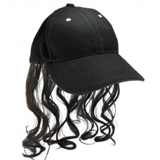 Billy-Ray Hat and Hair Black
