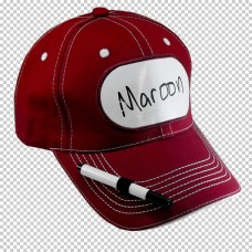 Cap Billy Bob Billboard Maroon with Pen