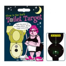 British Maid Toilet Target, Glows in the