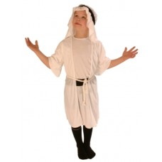 Costume Nativity Shepherd White 6-8 Yea
