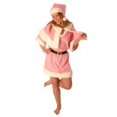 Costume Santa 4 Piece Baby Pink Female