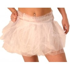 Tutu Skirt Net Wrap Round White