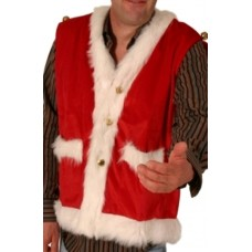 Waistcoat Santa Plush Fine with Bells