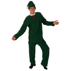 Costume Elf Mr Fleece Green 4 Piece Suit