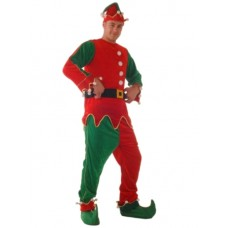 Costume Elf Mr Velvet  L Red Green Gold