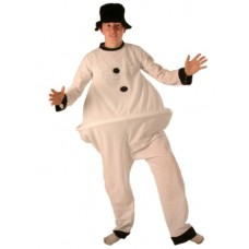 Costume Fat Snowman Suit & Hat