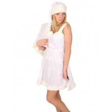 Costume Ice Queen Velvet 4 piece Dress