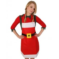 Apron Christmas Felt with Black Belt Tie