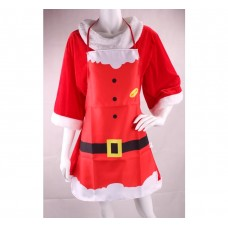 Apron Red with Belt and Mrs Claus