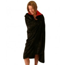 Cloak Velvet Black with Red Collar