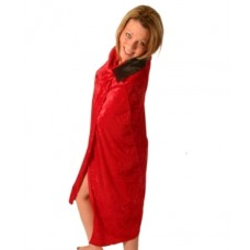 Cloak Velvet Red with Black Collar