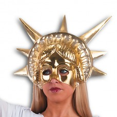 Mask Face Theatre Statue of Liberty Gold