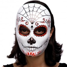 Mask Face Theatre White Decorated