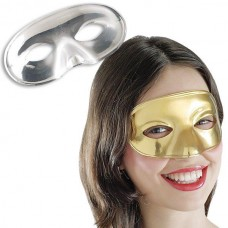 Masks Party Plastic Domino Gold & Silver