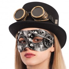 Mask Eye Steampunk Silver