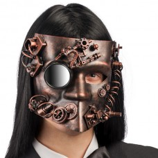 Mask Bautta Steampunk Copper with Mirror