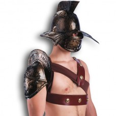 Helmet Gladiator & Shoulder Cover Bronze