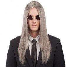 Hair wig Straight Long Grey in PVC Box