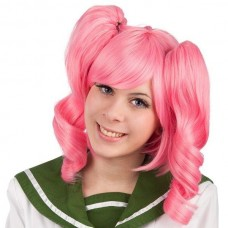 Hair wig with ponytails Pink