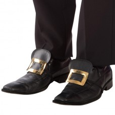 Shoe Covers Black with Gold Buckle