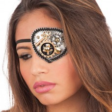 Eye Patch with Steampunk Gearwheels