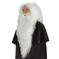 Hair Beard Santa White Straight 66cm