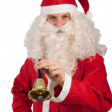 Santa Bell with Red Handle, in Box