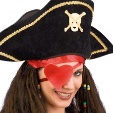 Pirate Eye Patch Red Heart PB